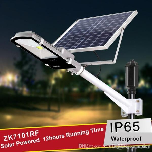 Las luces de calle solares 12W 24W llevaron las lámparas de la noche Luces nocturnas del camino del patio del país del chalet con el panel solar 1265 impermeable del jardín solar IP65