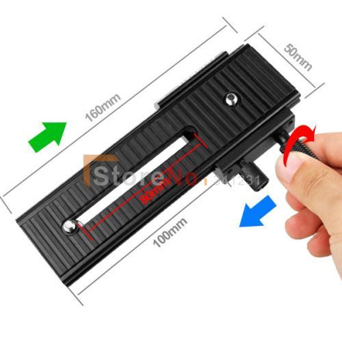 100% New Fotomate LP-01 2-Way Macro Focus Focusing Rail Slider Fo DV Camcorder DSLR Camera
