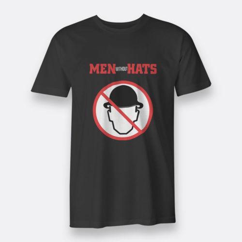 Мужчины без шляпы Новая волна Sz S-3XL черный тройник мужская футболка
