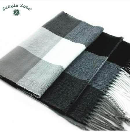 Male Female winter scarf scarf men wool plaid bandana cashmere bandana muffler lovers thick thermal double faced WJ001