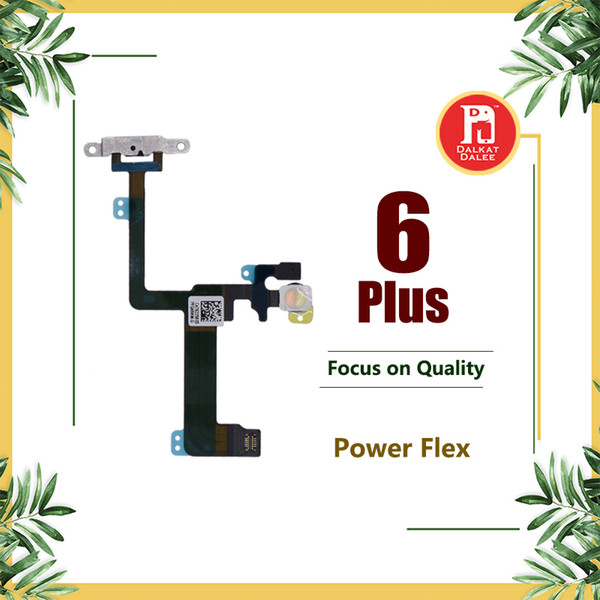 """Power Button Flex Cable with Small Metal Plate Backet Power Switch On Off for iPhone 6 Plus 5.5"""" Power Supply for 6p"""