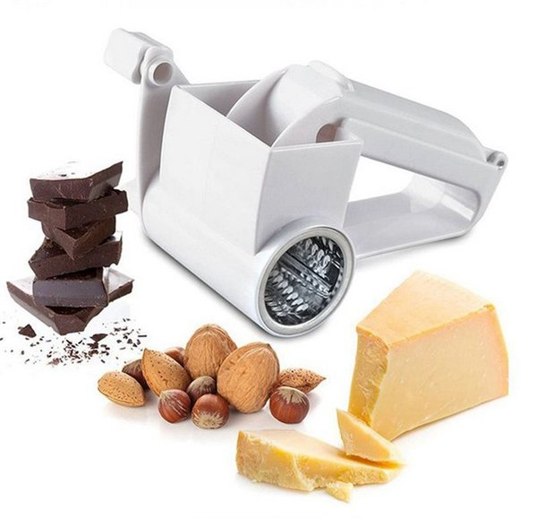 Cheese Rotary Graters Hand-cranked Drum Blades Cheese Knife Butter Cutter Nuts Chocolate Slicer Fruit Vegetable Grater kitchen tools YW1085