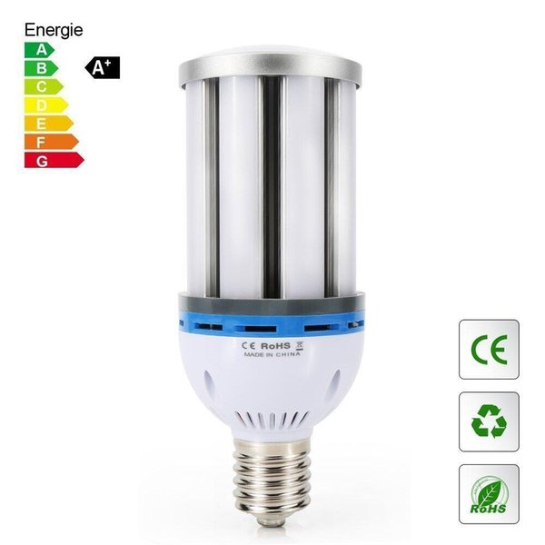 45W E40 E27 LED corn bulb, high brightness 200-250 watts CFL replacement, 108 SMD5730 chips, 360 degree lighting, AC 85 ~ 265V, suitable for