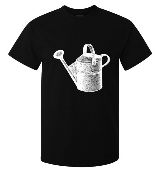 Water Can Vintage Gardening Tool Art men's (woman's available) t shirt black