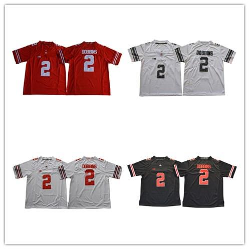 Ohio State Buckeyes 2 JK Dobbins College Football Jersey - White Red Black Stitched Size S-3XL Free Shipping