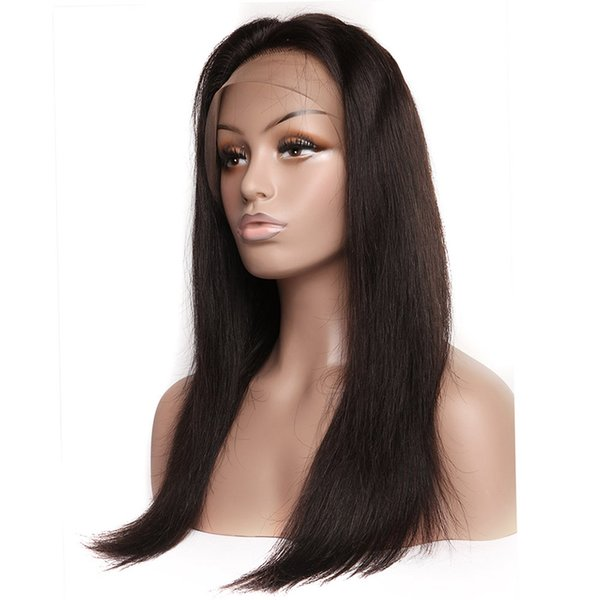 Brazilian Hair Lace Front Wigs with Baby Hair Human Hair Wigs for Black Women Straight Natural Color Lace Wigs 8A Grade Virgin Hairs