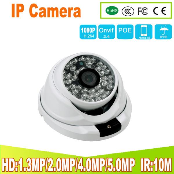 Metal Anti-vandal POE IP Camera 2.8mm/3.6mm Lens Wide Angle 2MP 4MP 5MP Security ONVIF CCTV Surveillance Dome IP Camera