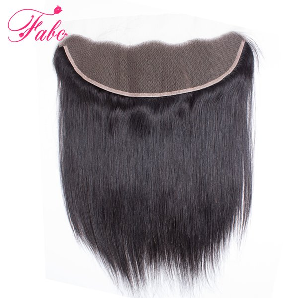FABC brazilian lace frontal closure straight hair 13x4 free part ear to ear 130% density Remy hair free shipping 8-22inch
