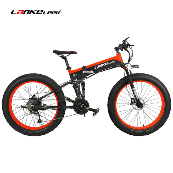 top popular 27 Speed 26*4.0 Fat Bike, 5 Grade Assist, 1000W 500W 48V 10Ah Folding Mountain Bike, Hidden Battery, Full Suspension Snow Bike 2020