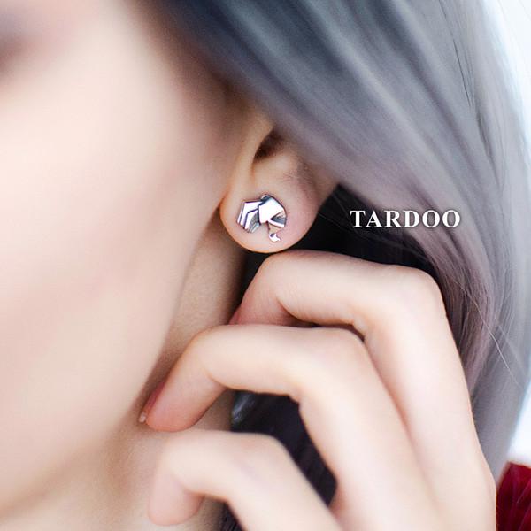 Tardoo Women's 100% 925 Sterling Silver Jewelry Fashion Cute Elephant Stud Earrings Gift for Girls Friend brand fine jewelry Y18110110