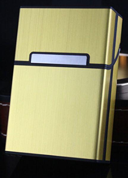 Sigarette per sigarette Sigarette Nuova lega di alluminio metallo spazzolato spazzolato magnetica portasigarette sei colori