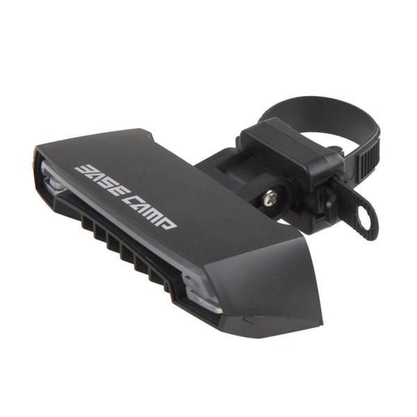 BaseCamp Intelligent Remote Fahrrad Rear Laser Wasserdicht LED Fahrrad Licht 5 Modi USB Warnung Fahrrad Licht Accessorie Schwarz