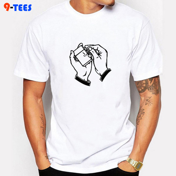 Smoke Matchbox Printed T-shirts Hombres Summer Tee Casual Streetwear Cotton Tops T-shirt Funny negro fresco de manga corta Top Shirts