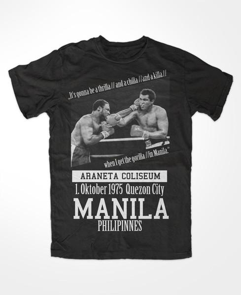 T-Shirt muhammad ali 3 king of the ring Boxing KO Thrilla in Manila Greatest Gift Print T-shirt Hip Hop Tee T Shirt NEW ARRIVAL