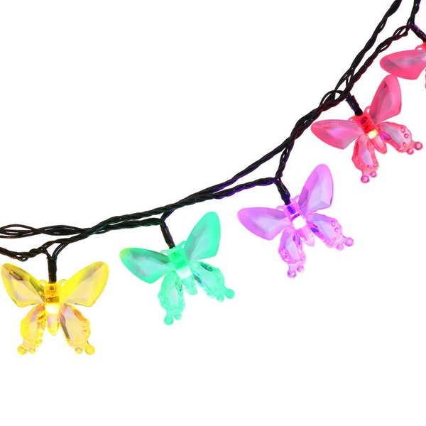 Outdoor Lighting Colorful Decoration Butterfly Garland Waterproof Christmas Garden Solar Lamp Garden Home Decoration Wholesale Dropship