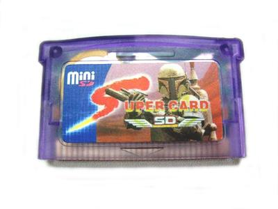 Mini Super Card SD Flash Card Adapter Cartridge 2GB Game Backup Device for GBA SP GBM IDS (with Card Cover)