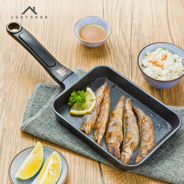 17x12 Cm Japanese Tamagoyaki Omelette Pan Non -Stick General Use For Gas And Induction Cooker Frying Pans Egg Pancake