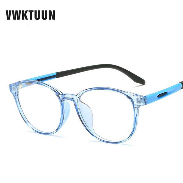 VWKTUUN 스펙터클 프레임 고양이 눈 안경 프레임 클리어 렌즈 여성 안경 광학 프레임 근시 파란색 빨간색 안경 프레임