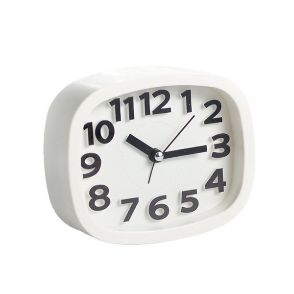 New Mini Mute Function Alarm Clocks Baery Bedside Desk Table Clock Home Decor Kid Creat Gifts Square Portable Candy Color ZDT1