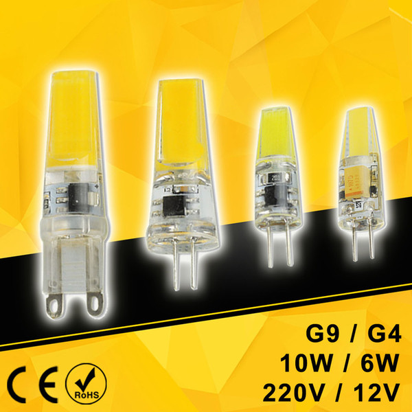 [DS] CE Dimmable Mini G4 G9 LED Lamp 6W 10W COB LED Bulb AC 220V DC 12V SMD For Spotlight Chandelier Lighting Replace Halogen
