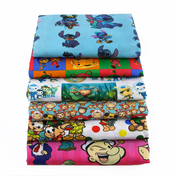 50*145CM patchwork printed cartoon boys Polyester&cotton fabric for Tissue Kids Bedding home textile for Sewing Tilda Doll,c424