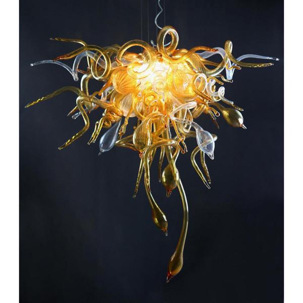 Estilo de Chihuly, Italia, diseñada, soplado, lámpara de vidrio, arte moderno, vidrio, sala de estar, decoración, lámpara LED moderna con certificado CE UL