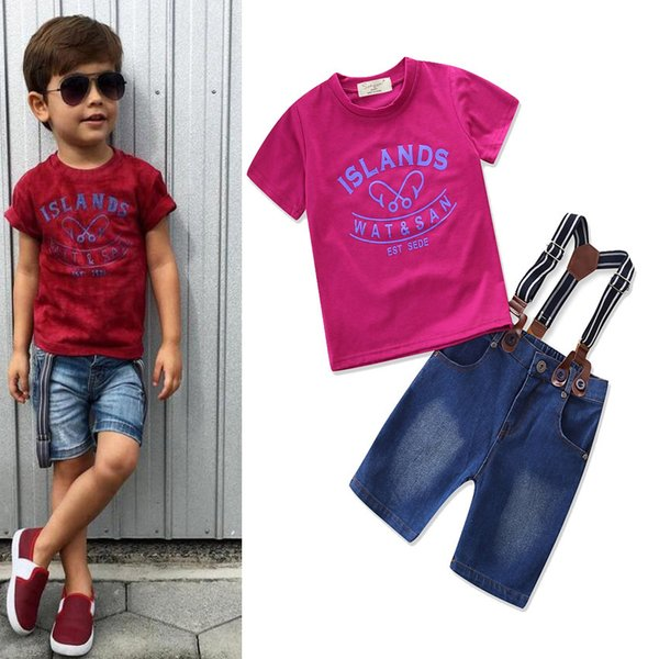 Boys Girls Baby Clothing Sets Short Sleeve Toddler tshirts Harem Pants Summer Cotton Pajamas Suits Boutique Infant Clothes Outfits 14 Style