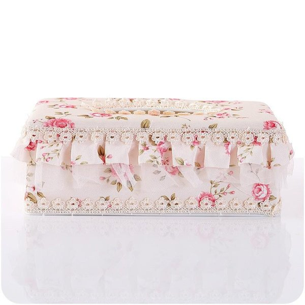 Tissue Box Countryside Lace Fabric Art Eco Friendly Napkin Case Home Furnishing Car Paper Towel Holder Table Decor 5 4yj ff
