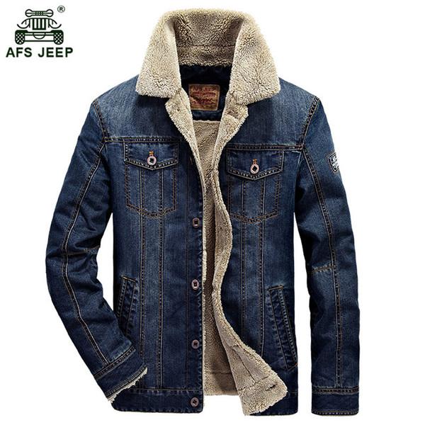 Acquista 4xl ~ Uomo Cappotti New Retro Jeans M Warm Giacche Denim rqTwxr