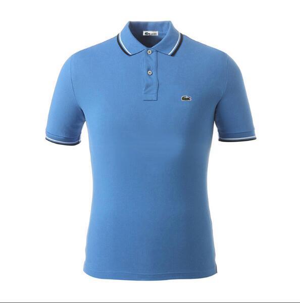 Camisa de polo de cocodrilo francés de los hombres de verano al por mayor 100% algodón bordado logo manga corta de los hombres casuales polo s-3xl