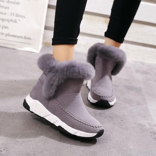 botas de nieve para mujer cómodas con plataforma redonda