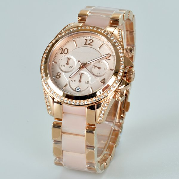 luxury orologio Women diamond MK Watches famous Brand wistwatches waterproof gold relojes quartz female Michael montres mk5943 mk5944