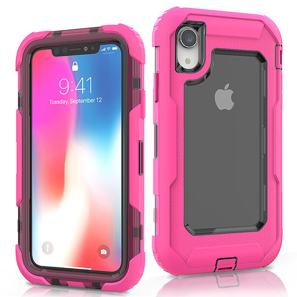 4cf1cd1279fd For Iphone XR Defender Case 3in1 High Impact Heavy Duty Hard Rugged Rubber Case  Cover without Clip for iphone XR XS Max