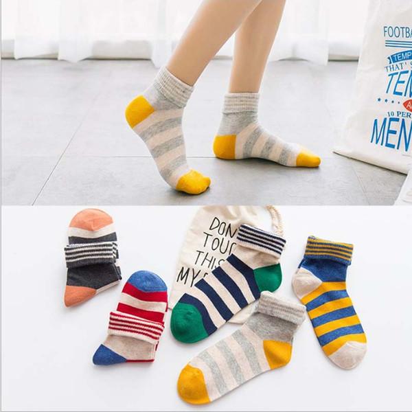 Fashion Cute Short Socks Women Harajuku Cute Cotton Striped Patterend Ankle Socks Hipster Skatebord Ankle Funny Socks Female