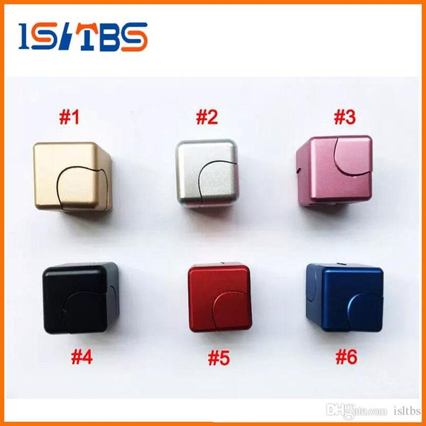Upgrade Metal Fidget Cube aluminum Alloy Spinner hand cubes Square Alloy Finger Decompression spinners Anxiety Beyblade Anti Stress Toys