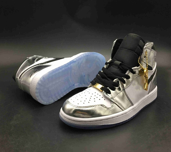 With Box Top Quality 1 OG High Pass The Torch Hi Think 16 Mens Basketball Shoes 1s Silver White Sports Trainers Sneakers The Shoe Surgeon x
