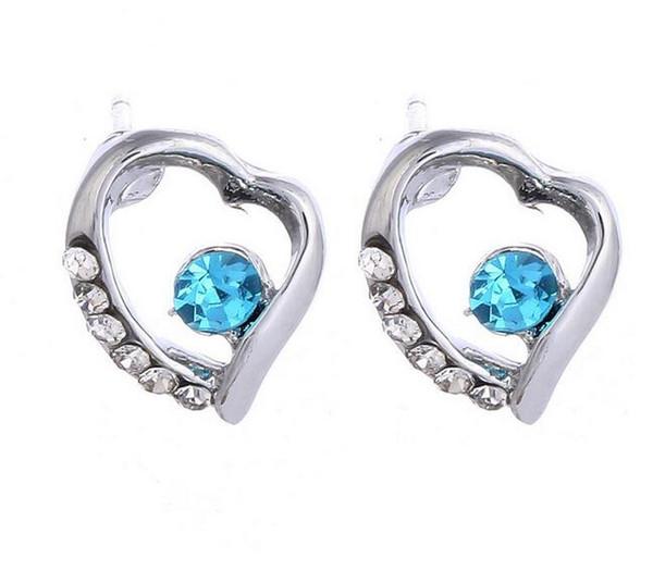 Jewelry Hot Sale Earrings Spring Fashion White Crystal Stud Earrings - Long Lasting