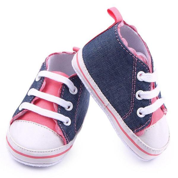 Spring Autumn Cute Lovely Baby Girls Canvas Shoes Soft Sole Anti-slip Cotton Toddler Infant Prewalker 0-12M