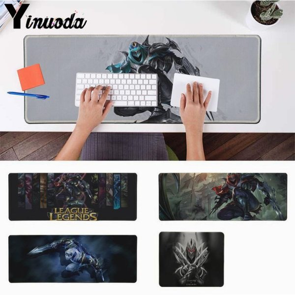 Yinuoda Zed LOL Durable Rubber Mouse Mat Pad Size for 30x90cm and 40x90cm Gaming Mousepads