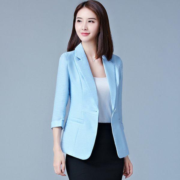 4XL 5XL Blazers 2018 New Fashion Single Button Blazer Women Plus Size Suit Green White Pink Blue Blaser Female Blazer femme L18101301