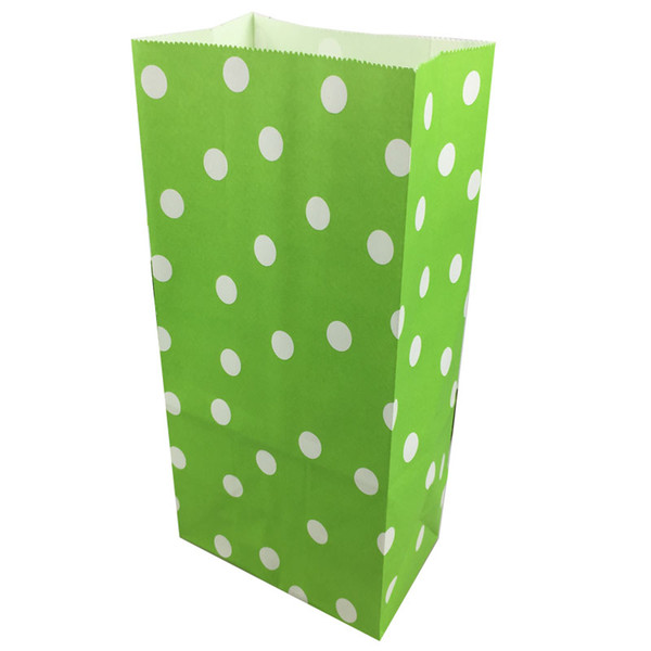 50pcs/Set Size 13x8x24cm Polka Dot Paper Gift Bags Wedding Candy Packaging Recyclable Jewelry Food Bread Shopping Party Bags For Boutique