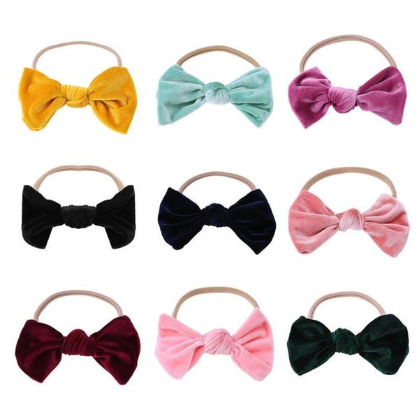 Big bowknot Headband baby girl headbands Bow Girl Infants Elastic Band Cute Ribbon Headwear Baby Kids Hair Band Accessories