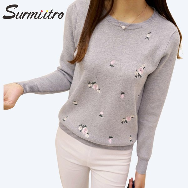 Gogoyouth 2018 Automne Chandail Femmes Broderie Tricoté Hiver Femmes Chandail Et Pull Femme Tricot Jersey Jersey Pull FemmeY1882402