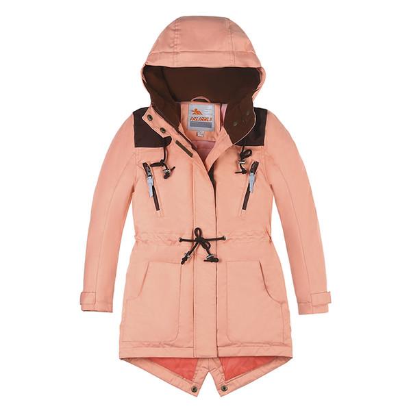 Großhandel Neuer Winterjacke Mädchen Mantel Parka Baumwolle Gefütterte Mantel Jacke Kinder Kapuzen Winterjacken Mädchen Winterkleidung Parkas Von