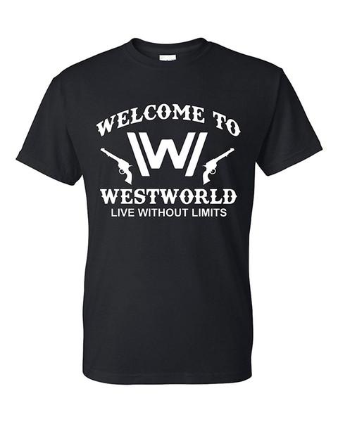 Freedomtees Bienvenue à T-shirt Unisexe Westworld Live Without Limits
