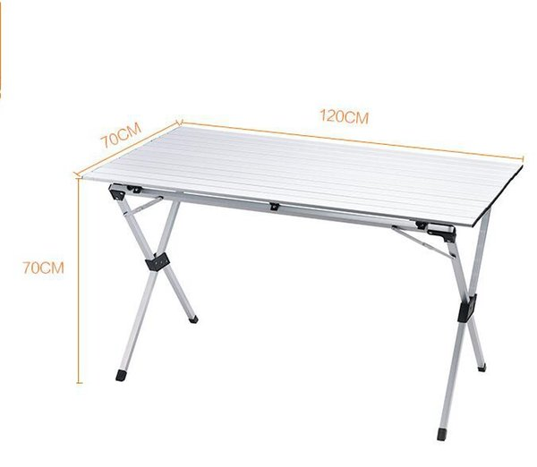 120cm and update 180cm Aluminum Alloy Adjustable Table Outdoor Garden Portable Camping Picnic BBQ Folding Table