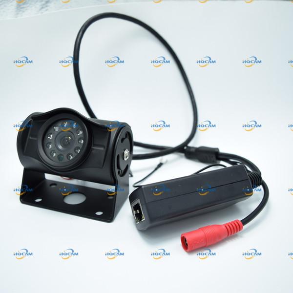 HQCAM POE 720P Mini-IP-Kamera 1/4 '' H42 Sensor ONVIF2.0 wasserdicht Indoor / Outdoor IR Cut Nacht Vision Bus Kamera