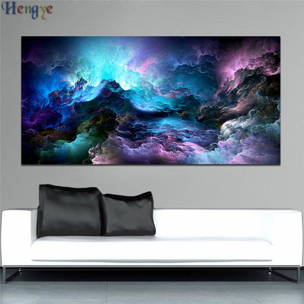 ZYXIAO abstract cloud colorful Print Wall Oil Painting Art picture print on canvas No Frame for bedroom living home mosaic decor gift ys0032