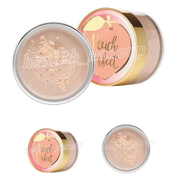 Nova Maquiagem Facial pêssego perfeito matificante rosto solto pó em pó infundido com pêssego e doce creme de figo cosmético 35g DHL