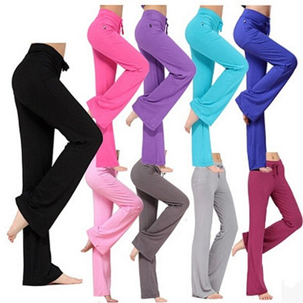 Latin dance yoga pants Modal Fitness Leggings Sports Gym Exercise XXL loose sweatpants Solid Sweatpants Bloomers Harlan pants